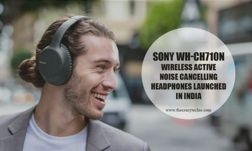 Sony WH-CH710N Wireless Active Noise Cancelling Headphones Launched in India at Rs. 9,990