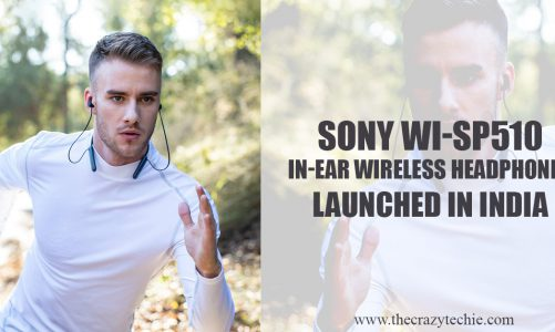 Sony WI-SP510 In-Ear Wireless Headphones Launched in India