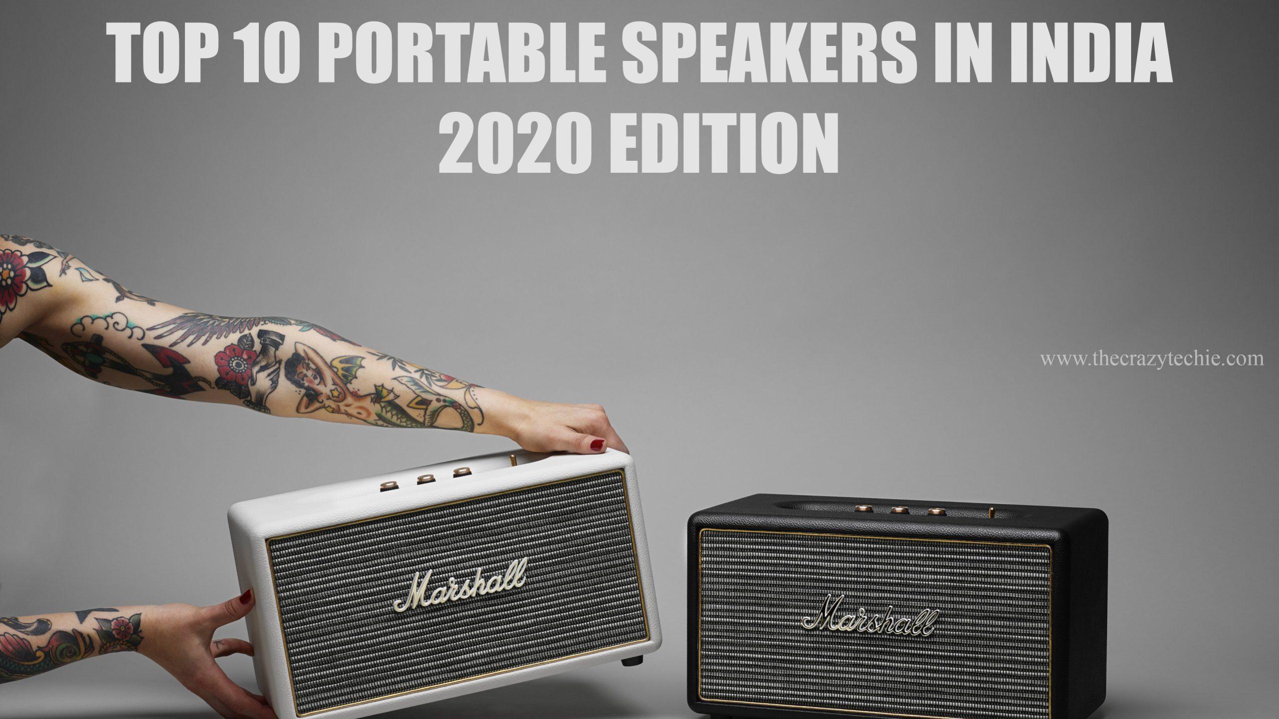 Best portable speakers in india list, Marshall bluetooth speakers